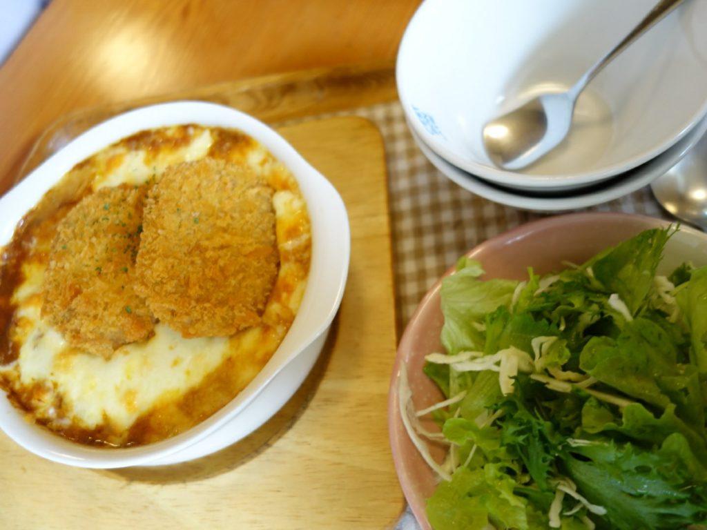 高岡市喫茶店トワイスランチコロッケドリア
