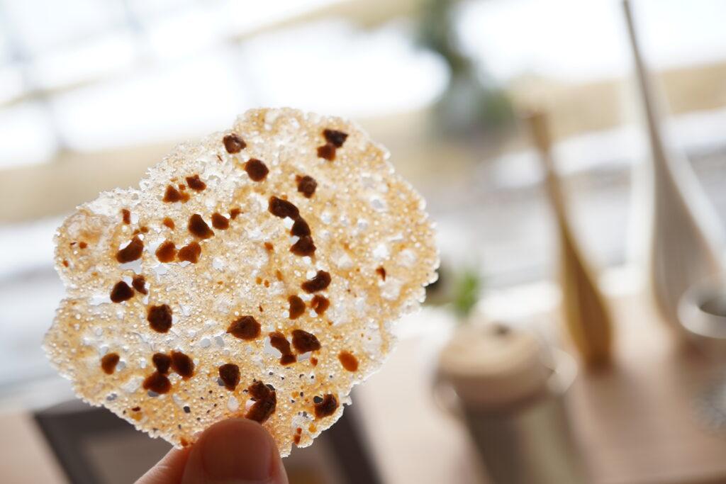 セサミサブレ レモンのショートブレッド (富山県産米粉使用) ピスタチオのチュール