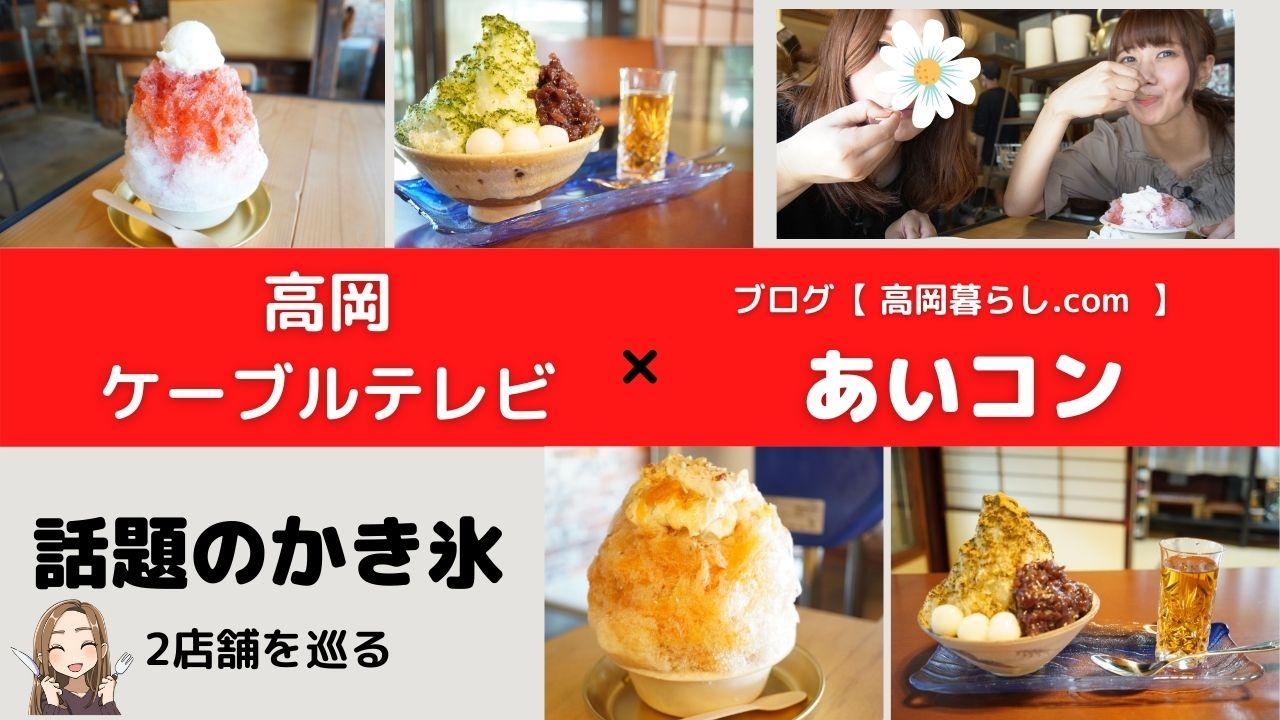 【高岡ケーブルテレビコラボ企画!】大菅商店と山町茶屋のかき氷を食べ歩き!!